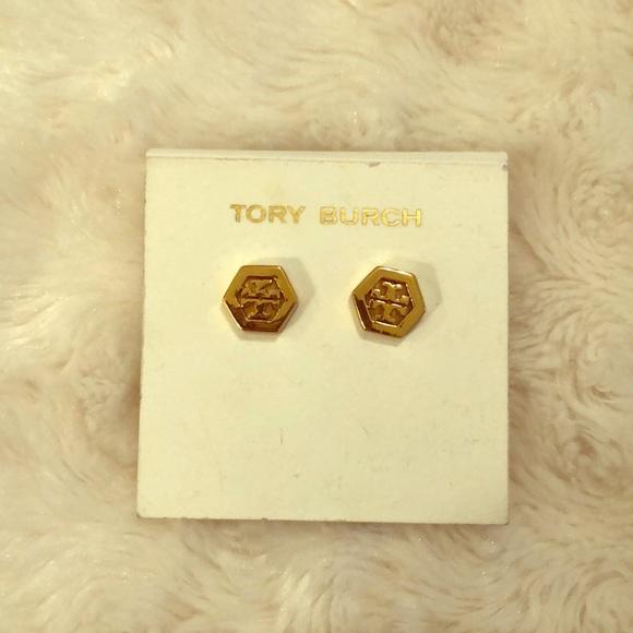 Tory Burch Jewelry - Tory Burch Hex Logo Studs